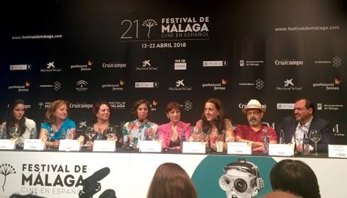 Rueda de prensa con el reparto de Mi Querida Cofradía, Festival de Cine de Málaga